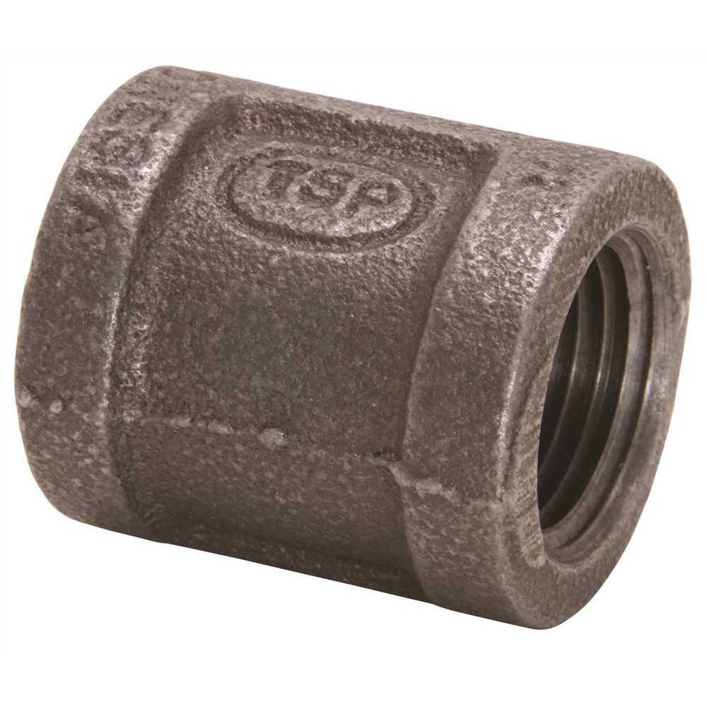 Black Malleable Coupling, 1/2 inch