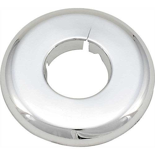 Split Escutcheon, 1/2 inch Ips, Chrome Plated Plastic