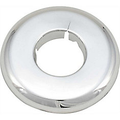 Proplus Split Escutcheon, 1/2 In. Ips, Chrome Plated Plastic