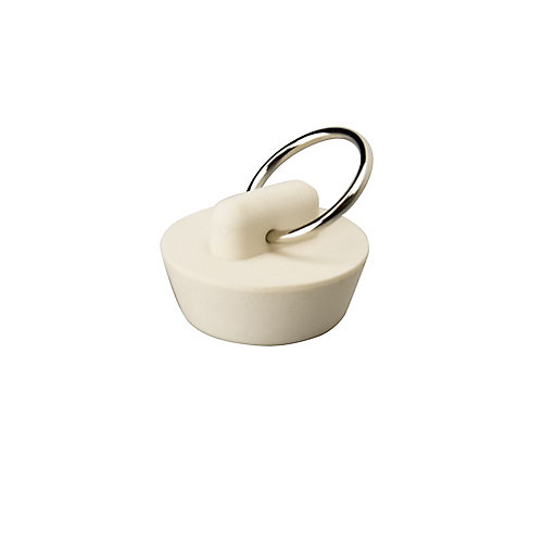 Sink and Bathtub Rubber Suction Stopper, 5 inch White