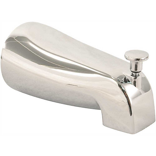 Universal Bathtub Spout with Diverter and Various Fittings in Chrome