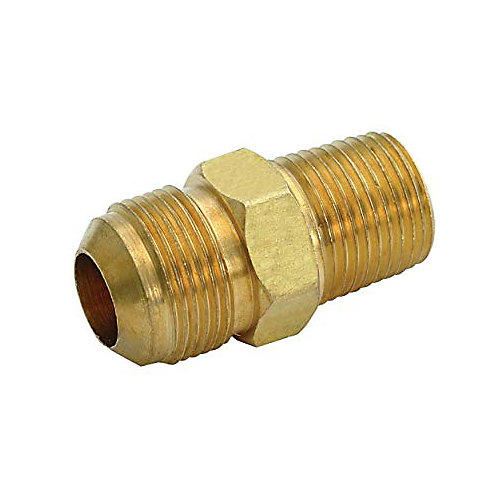 Brass Male Connector, 3/8 inch Ips X 3/8 inch Od, Chrome, Lead Free