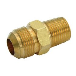 Proplus Brass Male Connector, 3/8 inch Ips X 3/8 inch Od, Chrome, Lead Free