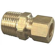 Male Adapter, 3/8 inch Compression X 1/2 inch Mip, Lead Free