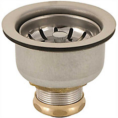 Leak Pruf Basket Strainer With Snap-In Cup