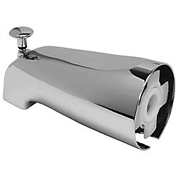 Proplus Bathtub Spout With Top Diverter And Adjustable Slide Connector, 1-3/4 inch Telescoping Fit, Chrome