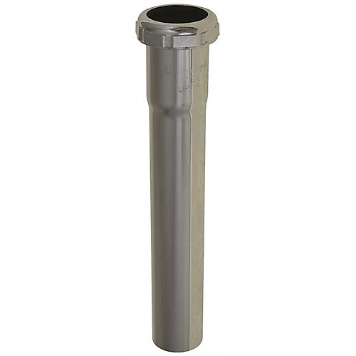 Brass Extension Tube With Slip Joint, Chrome, 17 Gauge, 1-1/4 X 8 inch
