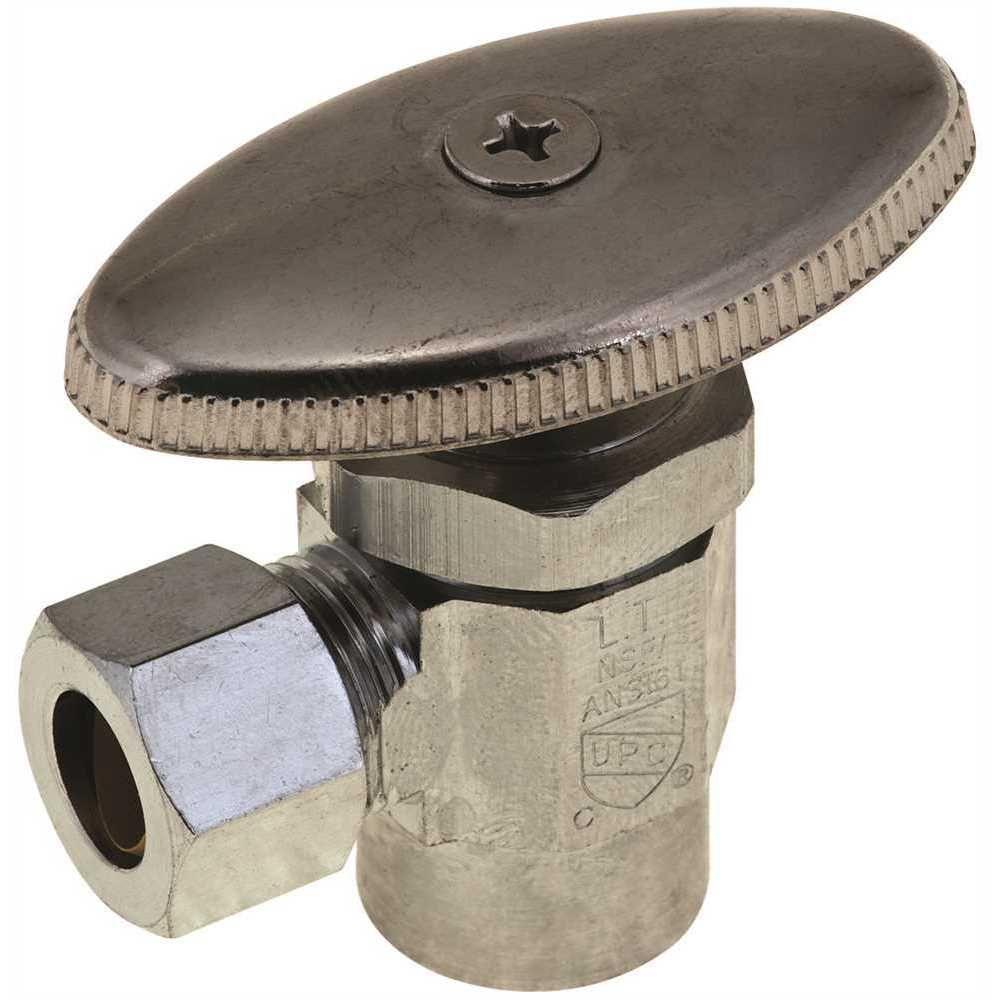 DuraPro Angle Stop, Quarter Turn, 1/2 inch Sweat X 3/8 inch Compression, Lead Free