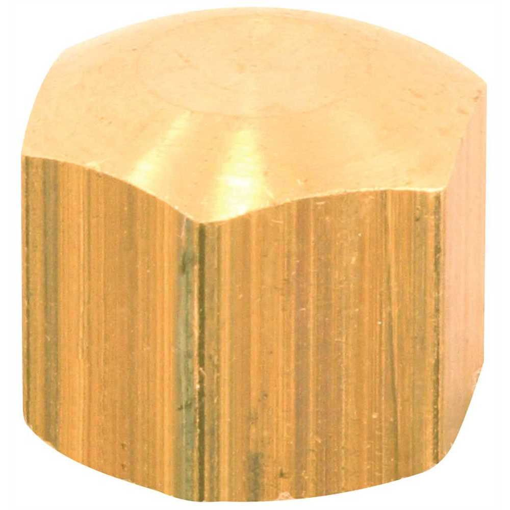 Brass Compression Cap, 3/8 inch Lead Free