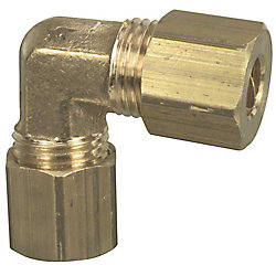 Proplus Brass Compression Elbow, 3/8 inch Lead Free