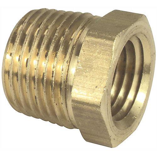 Brass Bushing, 1/2 inch X 1/4 inch Lead Free