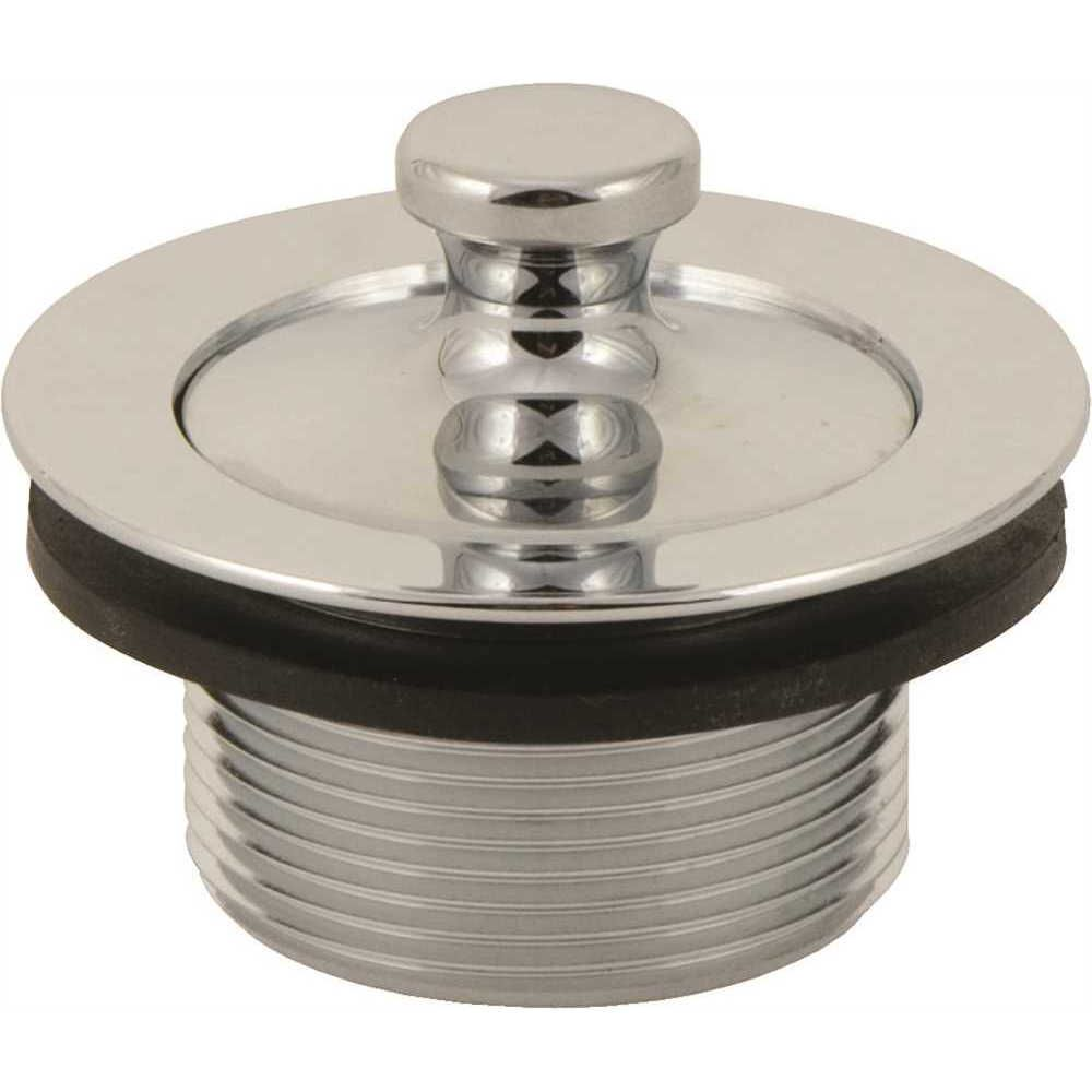 Lift-And-Turn Tub Stopper Assembly For Gerber, 1-7/8 inch 11.5 Tpi, Polished Chrome