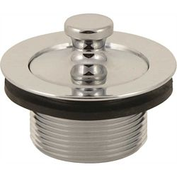 Proplus Lift-And-Turn Tub Stopper Assembly For Gerber, 1-7/8 inch 11.5 Tpi, Polished Chrome