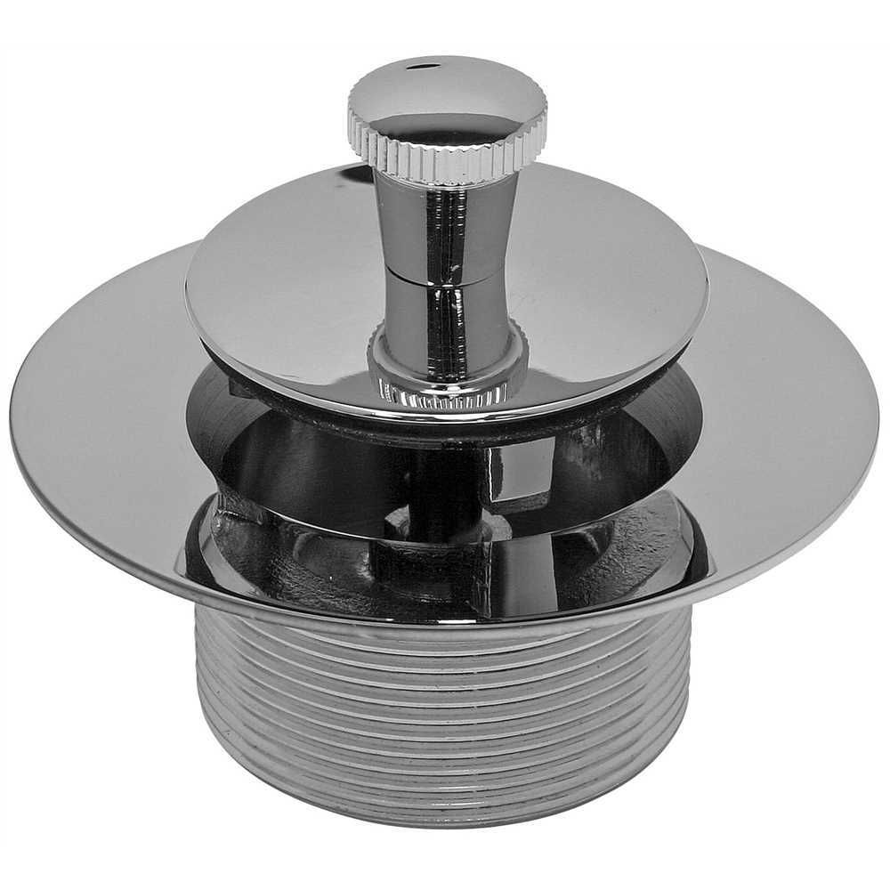 Lift-And-Turn Bathtub Stopper Unit, 1-1/4 inch 16 Tpi, Polished Chrome