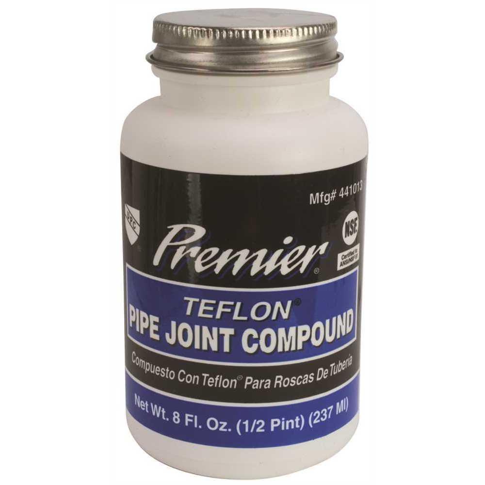 PREMIER Premium-Grade Teflon All-Purpose Pipe Joint Compound, 8 Oz. Bottle