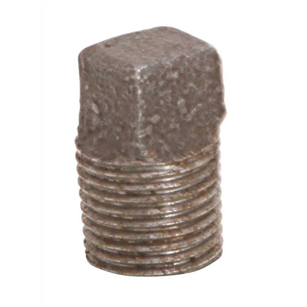 Black Malleable Plug, 1/8 inch