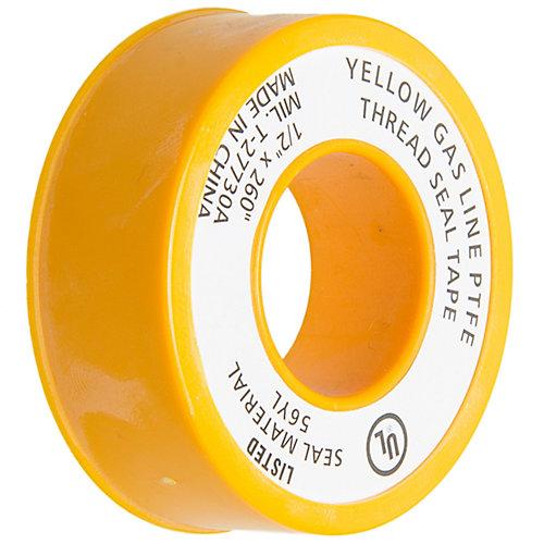 Yellow Teflon Tape 1/2 In. X 260 In.
