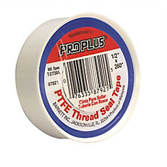 Proplus Teflon Tape, 1/2 In. X 260 In., Pack Of 10