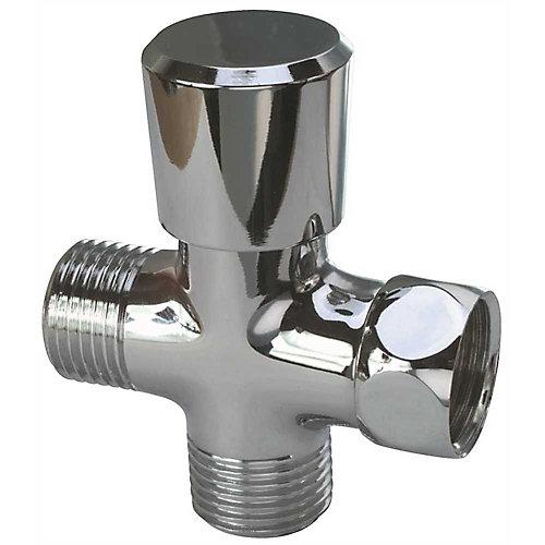 Diverter For Handheld Showers, Chrome, 1/2 inch Ips