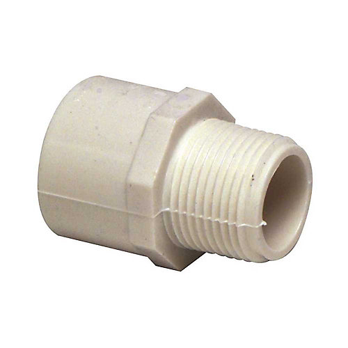 Pvc Schedule 40 Male Adapter, 1-1/2 inch