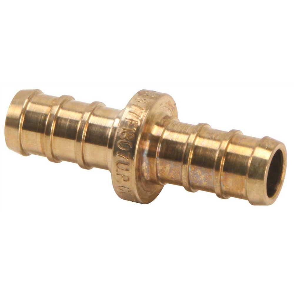 Pex Brass Coupling, 3/4 inch Barb X 1/2 inch Barb, Lead Free