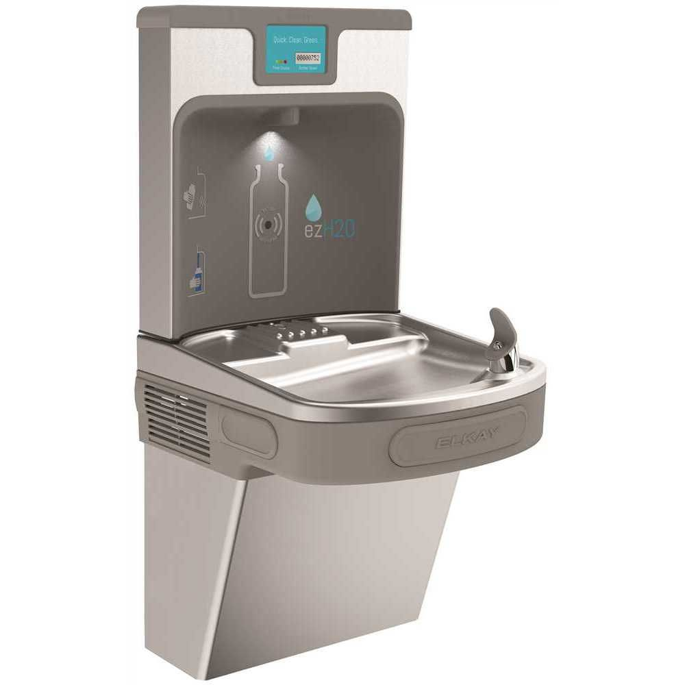 Elkay Enhanced Bottle Filling Station With Single Ada Cooler, Filtered, 8 Gph, 18-3/8 X 19 X 39-7/16 inch, Stainless Steel