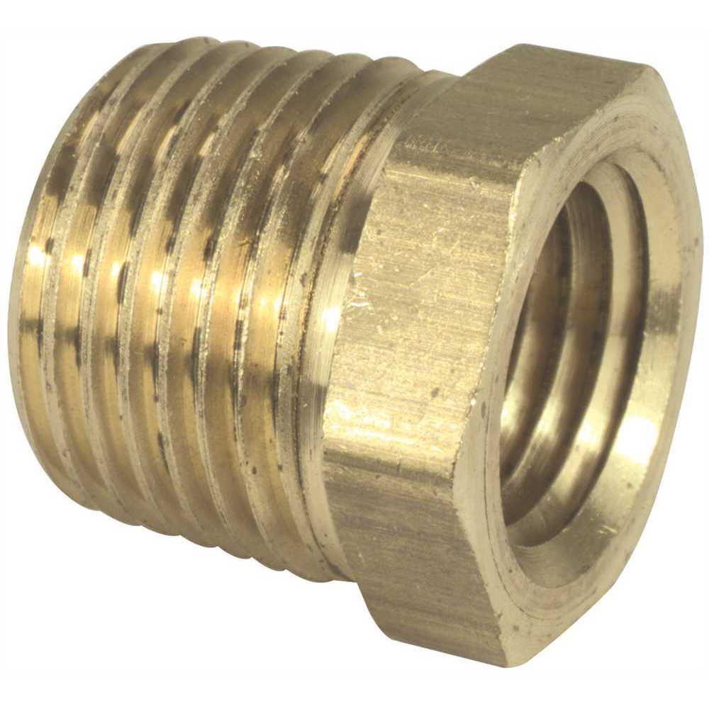 Brass Hex Bushing, 1-1/4 inch X 1 inch, Lead Free