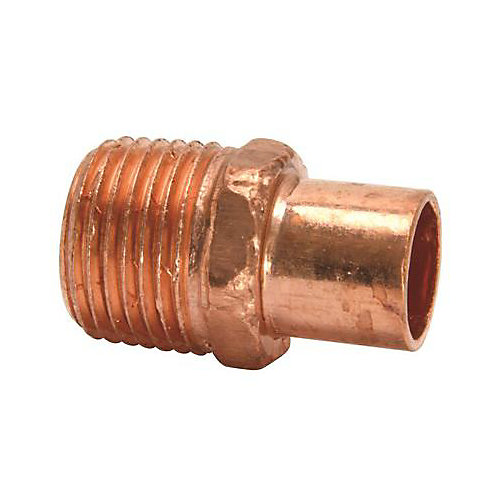 Copper Street Adapter Male 1/2-inch
