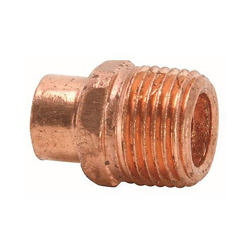 Lead-Free Copper Fitting Male Adapter, C X Mip, 3/4 inch