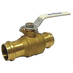 Robinet à tournant sphérique de pression 1-1/2 po, Lf-inch