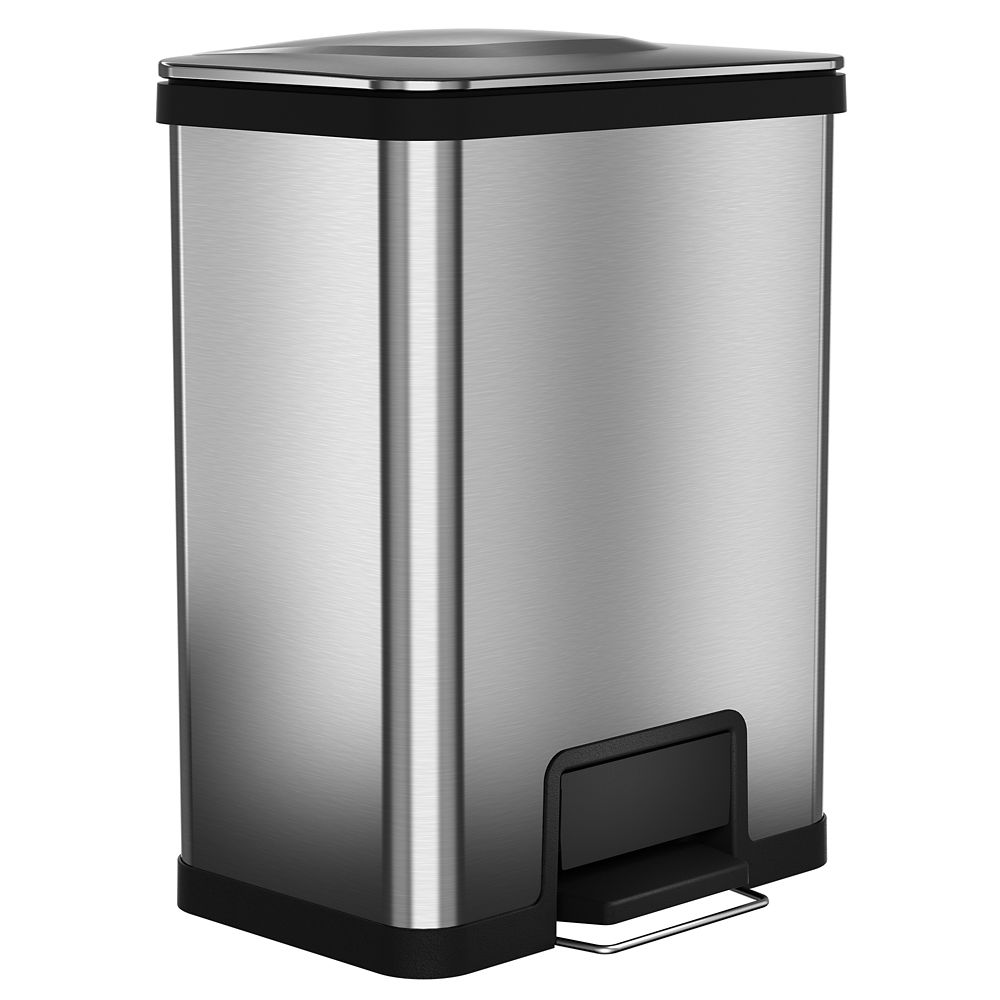 Halo AirStep 13 Gallon Step Trasn Can Stainless Steel