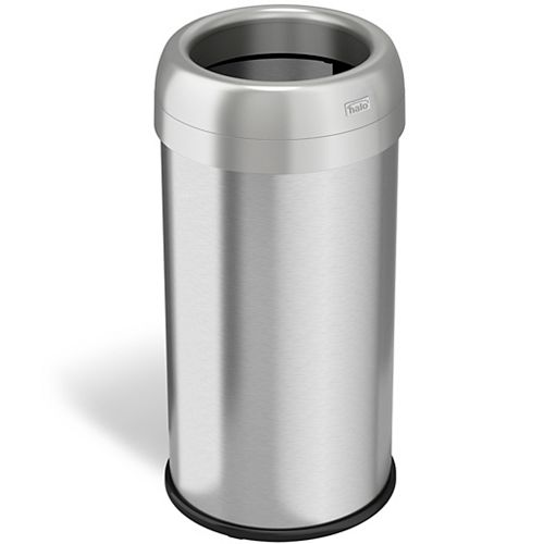 Halo 16 Gallon Open Top Round Trash Can with Deodorizer
