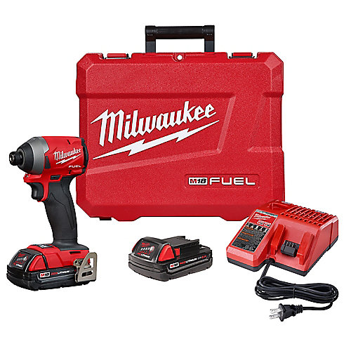 M18 FUEL 18V Lithium-Ion Brushless Cordless 1/4-inch Hex Impact Driver Kit W/(2) 2.0Ah Batteries, Charger, Hard Case