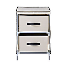 2-Drawer Fabric Dresser, Beige