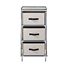 3-Drawer Fabric Dresser