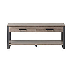 2-Drawer, 1-Shelf Entry Way Bench