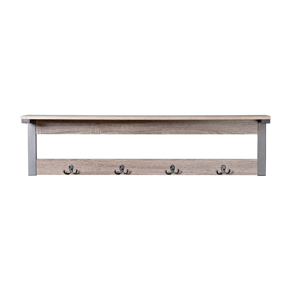 shelf ideas coat style rack with wall home mounted entryway design