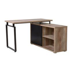 Homestar L Shaped Desk with Sliding Door Bookcase