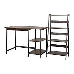 Homestar Gemelli Writing Desk & 4 Shelf Bookcase