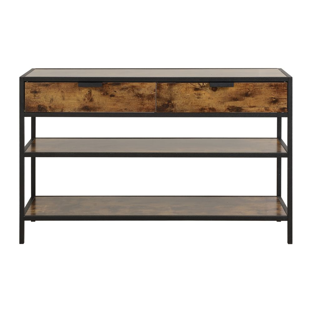 Homestar Metal and Wood Console Table