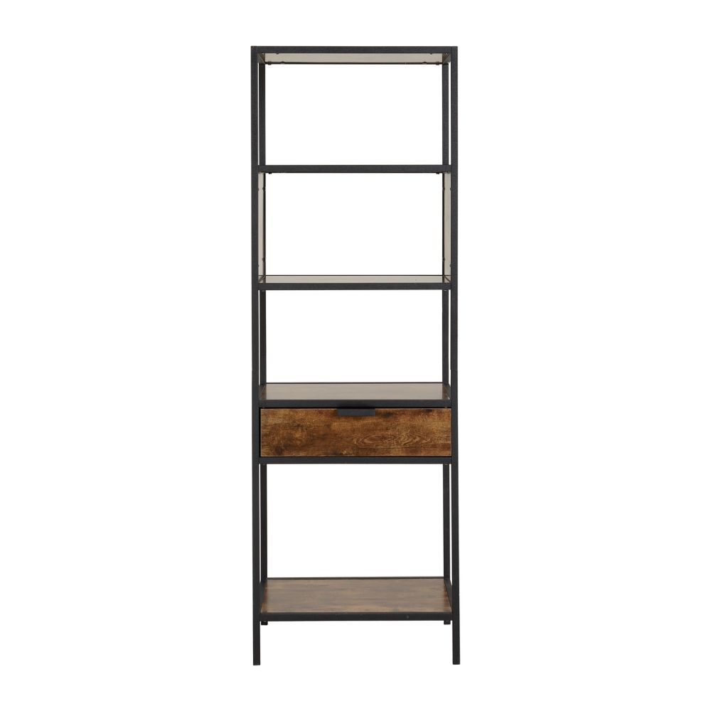 Homestar Metal Wood Display Cabinet with drawer