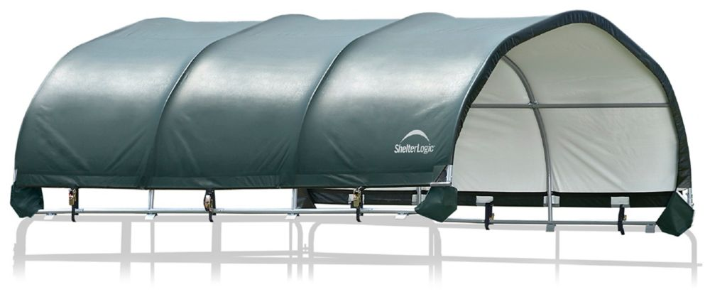 ShelterLogic 12 x 12 ft. Corral Shelter 1 5/8 inch 9 oz. Green Cover (Corral panels not included)