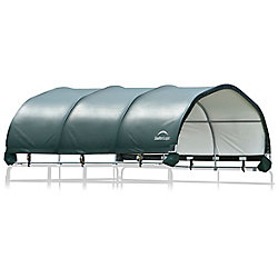 ShelterLogic 12 x 12 ft. Corral Shelter 1 3/8 inch 7.5 oz. Green Cover (Corral panels not included)