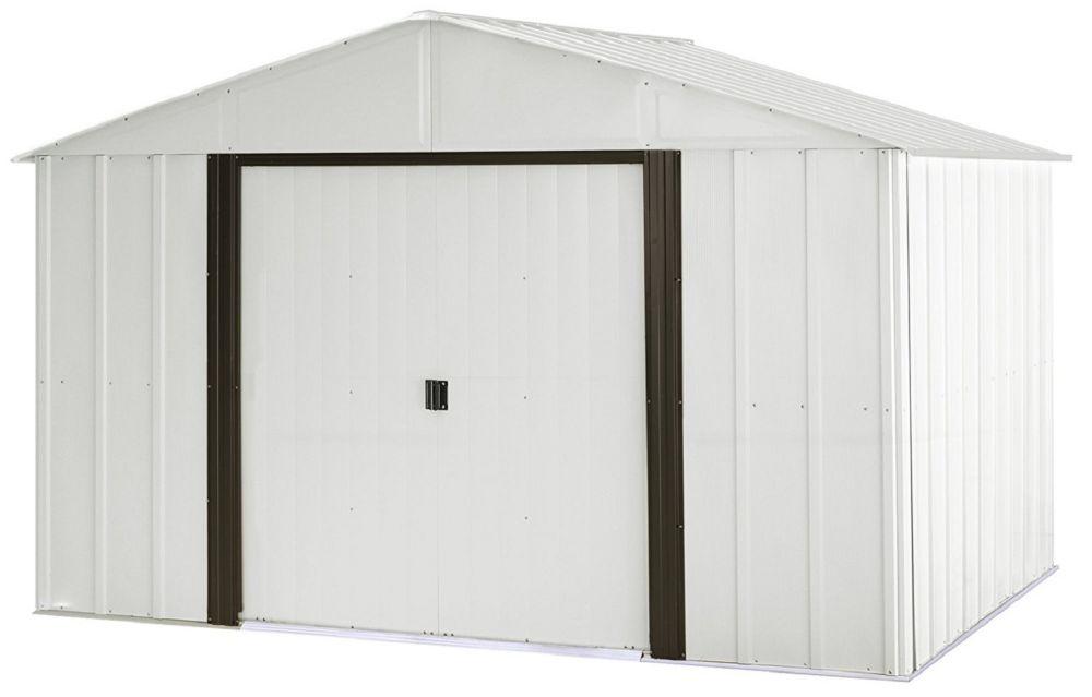 Arrow Arlington 10 x 12 ft. Steel Storage Shed Eggshell/Coffee Trim