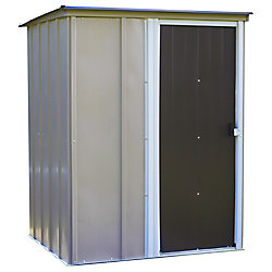 Arrow Brentwood 5 x 4 ft. Pent Roof Steel Storage Shed Emery Grey/Eggshell