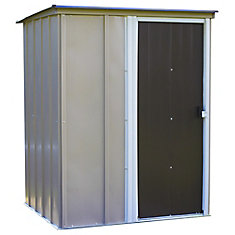 Brentwood 5 x 4 ft. Pent Roof Steel Storage Shed Emery Grey/Eggshell