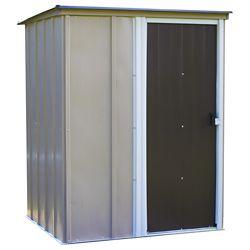 Arrow Remise Brentwood 5 x 4 pi en acier, toit en pente, gris foncé/coquille d'uf
