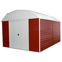 Arrow Red Barn 10 x 14 ft. Steel Storage Shed Red/Eggshell