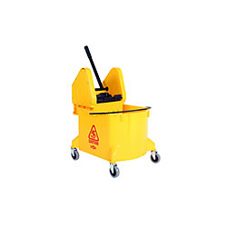 Globe Commercial Products 35Qt. Downpress Bucket and Wringer Yellow