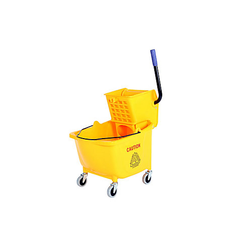 35Qt. Sidepress Bucket and Wringer Yellow